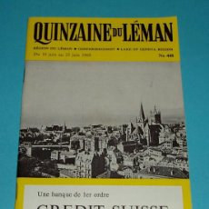 Folletos de turismo: QUINZAINE DU LEMAN. 10 A 25 JUNIO 1969. Lote 19984347