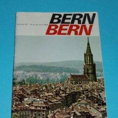 Folletos de turismo: FOLLETO DE TURISMO. BERNA. 14 AL 22 JUNIO 1969. Lote 19984486