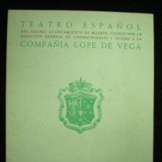 Folletos de turismo: FOLLETO. MADRID. TEATRO ESPAÑOL. COMPAÑÍA LOPE DE VEGA. PROGRAMA TEMPORADA 1954.. Lote 20368863