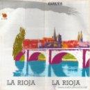Folletos de turismo: FOLLETO TURESPAÑA DE LA RIOJA 1990. PLANO GRAL. DESPLEGABLE E INFORM. GRAFICA.+ REGALO (LOT2) . Lote 26300888