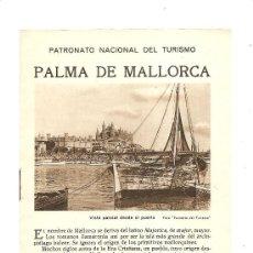 Folletos de turismo: ISLAS BALEARES – PALMA DE MALLORCA PNT – REPÚBLICA ESPAÑOLA. Lote 26452248