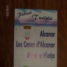 Folletos de turismo: PLANO TURISTICO ALCANAR. Lote 21051759