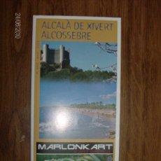 Folletos de turismo: PLANO TURISTICO ALCALA DE XIVERT/ALCOSEBRE. Lote 21051842