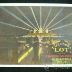 Folletos de turismo: FOLLETO PUBLICITARIO. BARCELONA. EXPOSICIÓN INTERNACIONAL DE BARCELONA. 1929-1930. ESCLUSIVAS LOT. . Lote 21141653