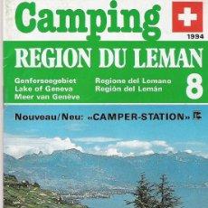 Folletos de turismo: CAMPING - REGION DU LEMAN - 1994 -. Lote 21601281