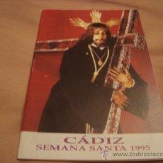 Folletos de turismo: ITINERARIO SEMANA SANTA DE CADIZ 1987. Lote 21624055