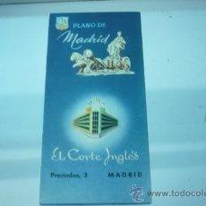Folletos de turismo: MADRID-PLANO. Lote 22122402