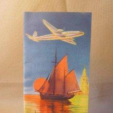Folletos de turismo: FOLLETO PUBLICITARIO, RUTAS AEREAS, IBERIA, 1953. Lote 22682622