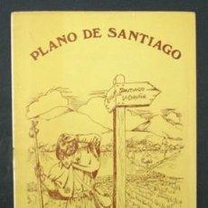 Folletos de turismo: PLANO DE SANTIAGO DE COMPOSTELA. INCLUYE CALLEJERO Y LÍNEAS DE AUTOBÚS. 1976. . Lote 22828061