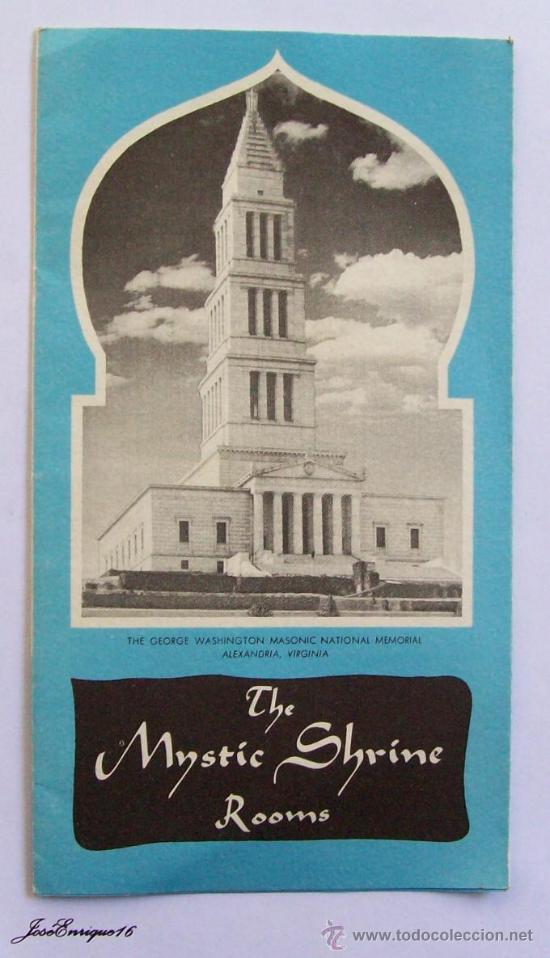 THE MYSTIC SHRINE ROOMS - WASHINGTON MASONIC NATIONAL. 1956, PRINTED IN USA. FOLLETO, BROCHURE (Coleccionismo - Folletos de Turismo)