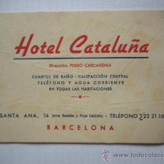 Folletos de turismo: TARJETA VISITA HOTEL CATALUÑA. Lote 26009392