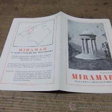 Folletos de turismo: MALLORCA-ISLAS BALEARES-MIRAMAR. Lote 23316161