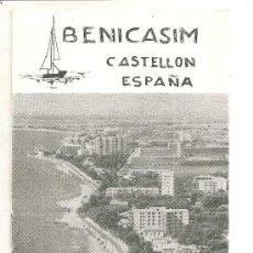Folletos de turismo: BENICASIM. (CASTELLÓN). Lote 23759284