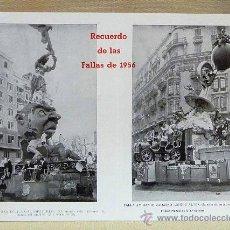 Folletos de turismo: RECUERDO DE LAS FALLAS DE 1956, RAMON Y CAJAL, ALMIRANTE CADARSO, CONDE ALTEA, MERCED, SERRANO. Lote 24150948