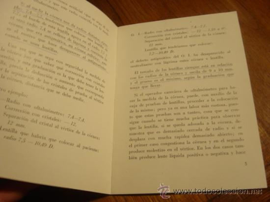 Folletos de turismo: FOLLETO INSTRUCCIONES MICRO-LENTILLAS CORNEALES , DE ULLOA-OPTICO - Foto 3 - 26771380
