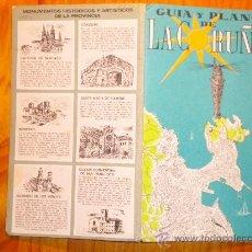 Folletos de turismo: GUIA Y PLANO DE LA CORUÑA, 1969. Lote 24745510