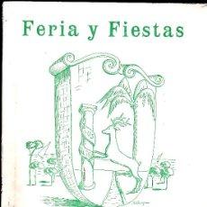 Folletos de turismo: CARTAYA 1965, REVISTA FERIAS Y FIESTA CONTIENE FOTOGRAFIAS Y PUBLICIDAD. Lote 24756932