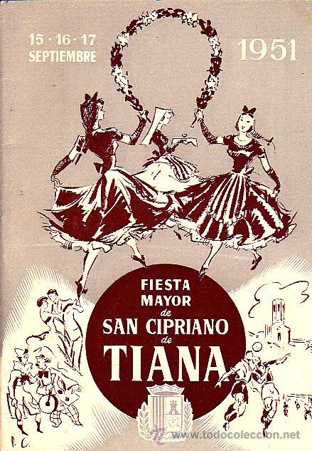 PROGRAMA FIESTA MAYOR SAN CIPRIANO TIANA 1951 (Coleccionismo - Folletos de Turismo)