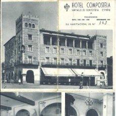 Folletos de turismo: PS3032 FOLLETO DESPLEGABLE DEL HOTEL COMPOSTELA (SANTIAGO DE COMPOSTELA - GALICIA). Lote 24889971