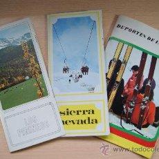 Folletos de turismo: LOTE FOLLETOS DE TURISMO: LOS PIRINEOS, SIERRA NEVADA Y DEPORTES DE INVIERNO EN ESPAÑA. AÑO 1972. Lote 25112885