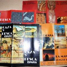 Folletos de turismo: LOTE VARIOS FOLLETOS AÑOS 70 - CAMINO DE SANTIAGO/CAZA Y PESCA/LA MANCHA. Lote 25113567