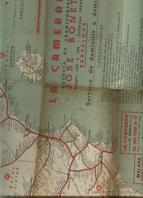 La camerana agencia de transportes mapa gran comprar for Agencia turismo madrid