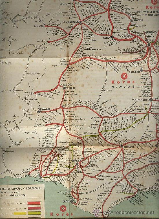 La camerana agencia de transportes mapa gran vendido for Agencia turismo madrid