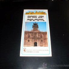 Folletos de turismo: FOLLETO TURISMO - CONOCE LEON MONUMENTAL - 1985. Lote 25534133
