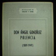 Folletos de turismo: FOLLETO. DON ÁNGEL GONZÁLEZ PALENCIA (1889-1949). INSTITUTO MULEY EL HASAN. TETUÁN. 1950.. Lote 25548386