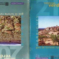 Folletos de turismo: CATALUNYA VERDA - TURISME RURAL - GARRIGUES / SEGRIA - ED. GNT.CATALUNYA/ LA VANGUARDIA - AÑO 1996. Lote 25742366