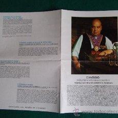 Folletos de turismo: CANDIDO-MESONERO MAYOR DE CASTILLA-MEDALLA DE ORO DEL MERITO AL TURISMO-FIRMADO-1978-. Lote 25929968