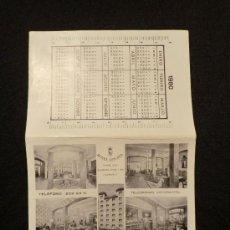 Folletos de turismo: TARJETA HOTEL ASTORIA, BARCELONA. 1980. Lote 26223002