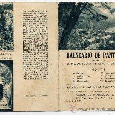 Folletos de turismo: BALNEARIO DE PANTICOSA 1934 FOLLETO TURISTICO. Lote 27448747