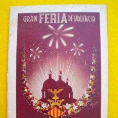 Folletos de turismo: PROGRAMA OFICIAL : GRAN FERIA DE VALENCIA 1950. AYUNTAMIENTO. Lote 27516164