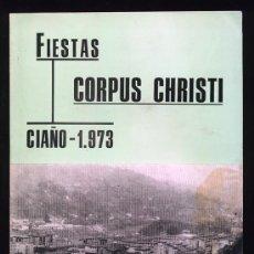 Folletos de turismo: FIESTAS CORPUS CHRISTI. CIAÑO LANGREO. ASTURIAS 1973. Lote 27643689