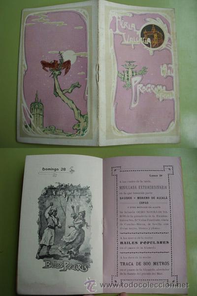 PROGRAMA OFICIAL FERIA DE VALENCIA 1907 (Coleccionismo - Folletos de Turismo)