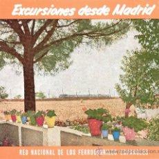 Folletos de turismo: EXCURSIONES DESDE MADRID. RED NACIONAL DE LOS FERROCARRILES ESPAÑOLES. CONGRESO DE LA A.S.T.A. 1957. Lote 27808443