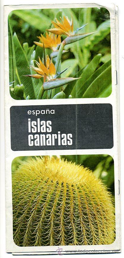 FOLLETO TURISTICO ISLAS CANARIAS - 1968 (Coleccionismo - Folletos de Turismo)
