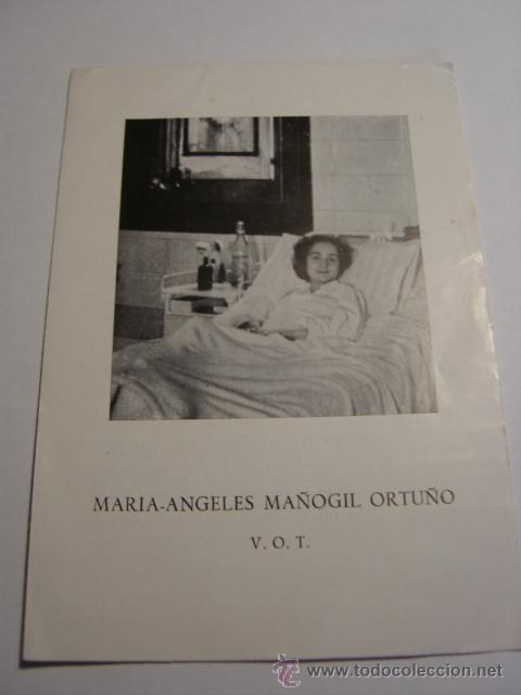 FOLLETO BIOGRAFIA DE MARIA-ANGELES MAÑOGIL ORTUÑO (Coleccionismo - Folletos de Turismo)