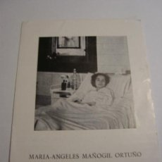 Folletos de turismo: FOLLETO BIOGRAFIA DE MARIA-ANGELES MAÑOGIL ORTUÑO. Lote 28163494