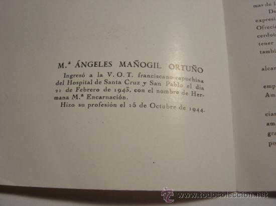 Folletos de turismo: FOLLETO BIOGRAFIA DE MARIA-ANGELES MAÑOGIL ORTUÑO - Foto 5 - 28163494
