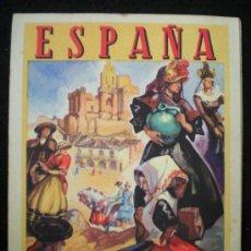 Folletos de turismo: FOLLETO. TURISMO. ESPAÑA. ILUSTRACIONES DE MORELL. DIRECCIÓN GENERAL DE TURISMO. MADRID, AÑOS 40.. Lote 28376537