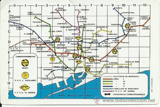 Mapa Antiguo Del Metro De Barcelona Tamano Cale Sold Through