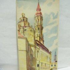 Folletos de turismo: + ZARAGOZA ANTIGUO FOLLETO DE TURISMO Y MAPA. AÑO 1954. Lote 28548405