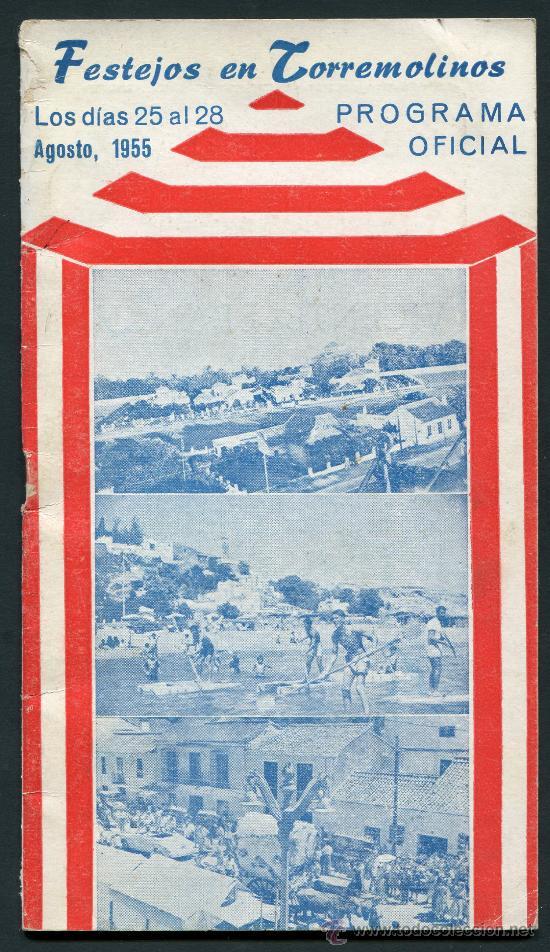 TORREMOLINOS, MÁLAGA, PROGRAMA FERIA 1955 (Coleccionismo - Folletos de Turismo)