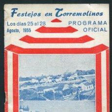 Folletos de turismo: TORREMOLINOS, MÁLAGA, PROGRAMA FERIA 1955. Lote 28554650