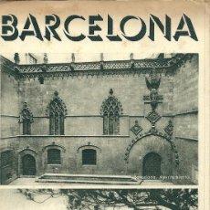 Folletos de turismo: BARCELONA, TRIPTICO DESPLEGABLE CON FOTOS * ANTIGUO FOLLETO TURISTICO. Lote 28851424