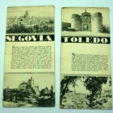 Folletos de turismo: 2 FOLLETOS PATRONATO NACIONAL TURISMO SEGOVIA Y TOLEDO AÑOS 40. Lote 28937410