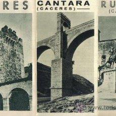 Folletos de turismo: TRES LIBRILLOS JUNTA PROVINCIAL DE TURISMO, CACERES, ALCANTARA Y TRUJILLO (CACERES). Lote 29024085