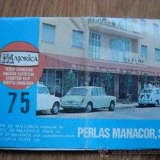 Folletos de turismo: MAPA DE MALLORCA OBSEQUIO DE PERLAS MANACOR - MAJORICA - AÑOS 60. Lote 32291053